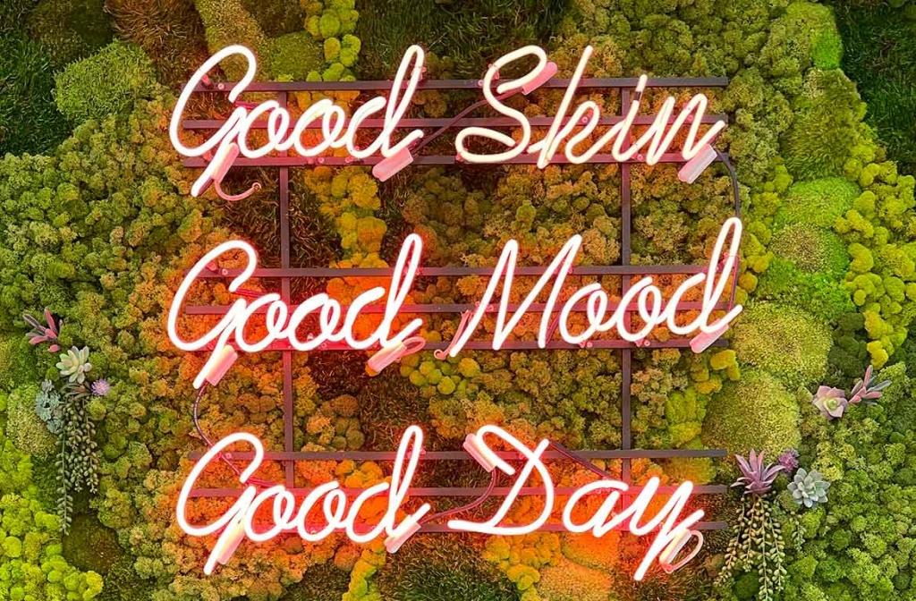 good skin good mood good day — moss wall at waverly dermspa